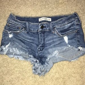 Abercrombie cutoff jean shorts